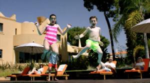 Villa Plus advertising pool jump for B2C advert