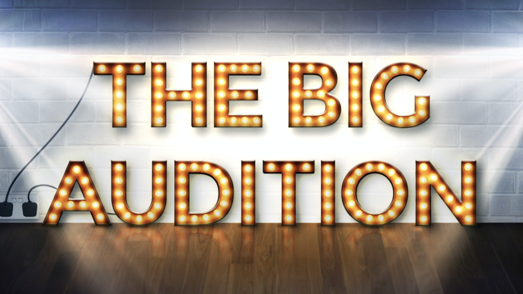 Prime time broadcast slot for entertainment programme, The Big Audition featuring on ITV